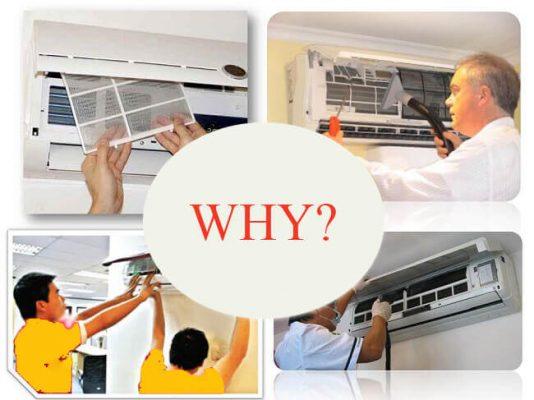 Tại sao máy lạnh điều hòa phải vệ sinh định kỳ