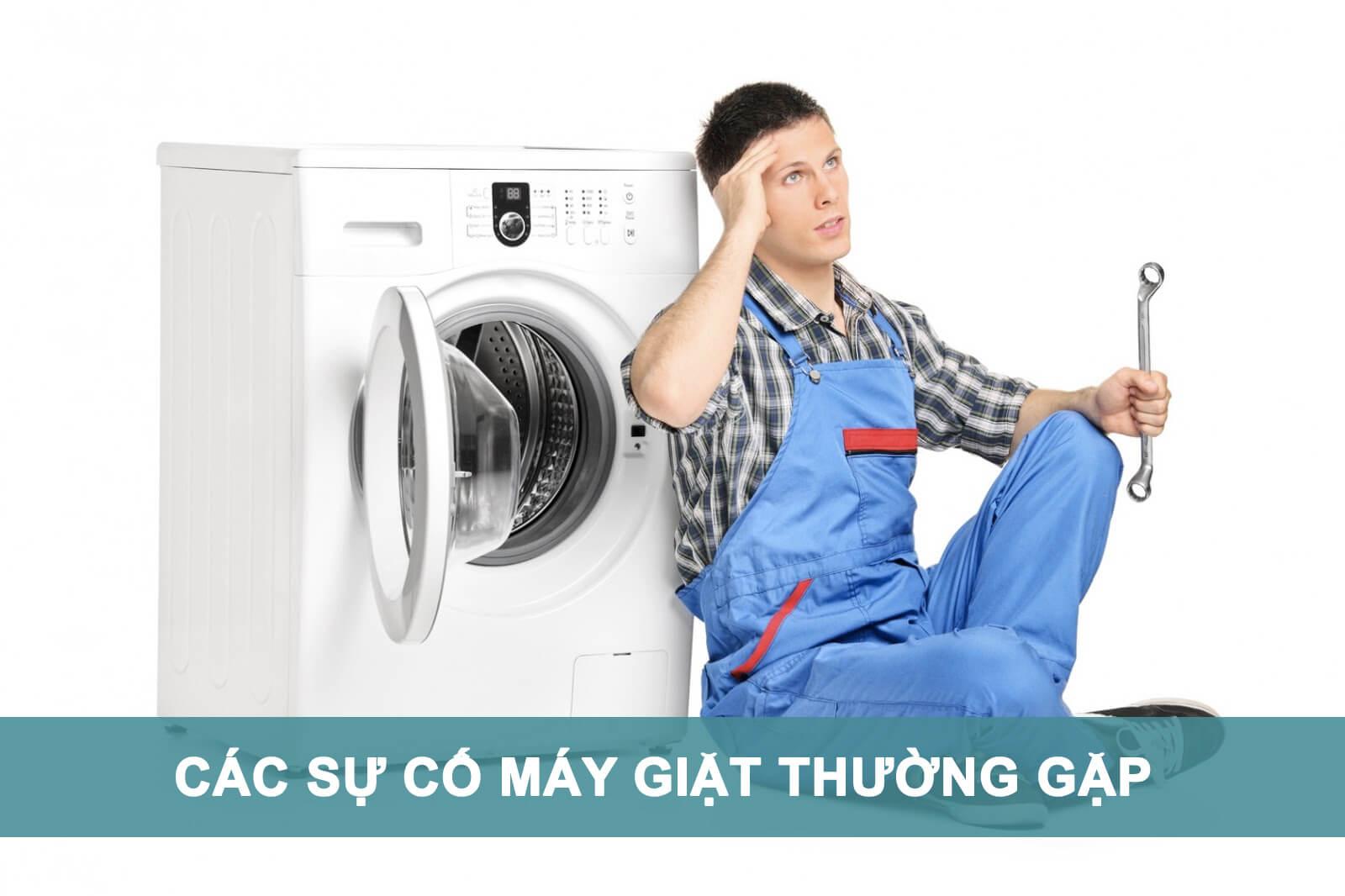 các sự cố máy giặt thường gặp