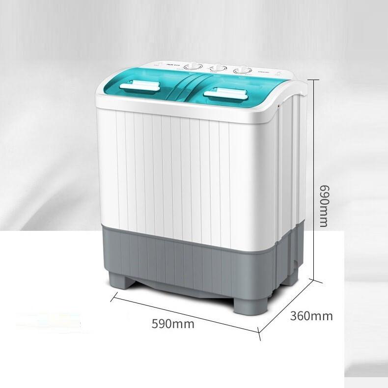 Kích thước của máy giặt mini AUX 2 lồng giặt.