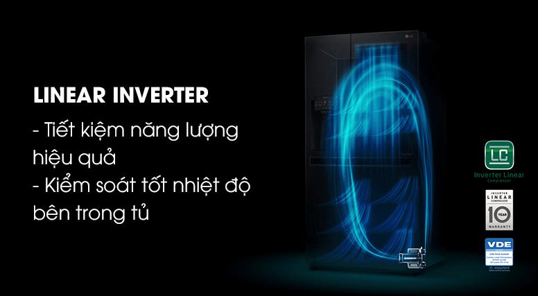 Công nghệ tiết kiệm điện tối ưu Inverter mang lại chất lượng cao cho tủ lạnh LG.