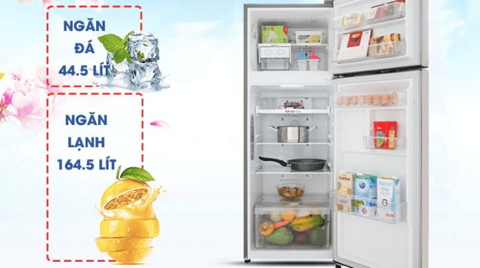 Tủ lạnh LG – GN – L208PN với thiết kế tinh xảo và dung tích lớn.