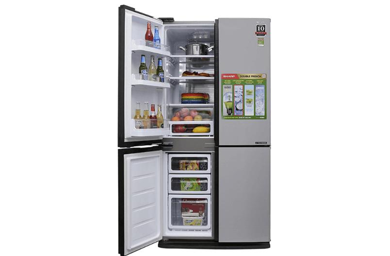 Tủ lạnh Sharp nổi tiếng với thương hiệu chất lượng và nhiều tính năng hiện đại.