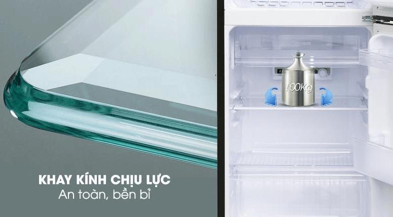 Khay kính của tủ lạnh Sharp đảm bảo chất lượng tốt và ổn định.