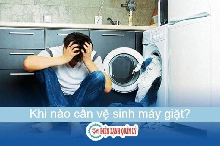 Dấu hiệu cần biết khi máy giặt cần vệ sinh.