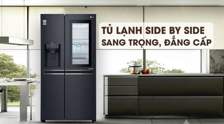 Tủ lạnh Side by Side sang trọng, đẳng cấp và nhiều tiện nghi.