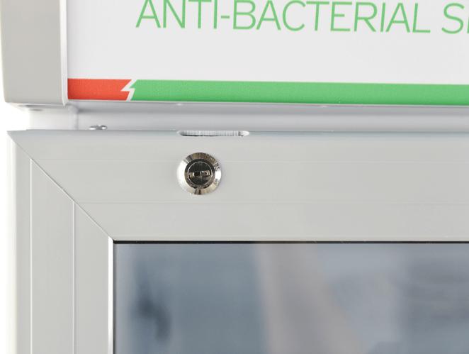 Công nghệ kháng khuẩn, khử mùi hiện đại của tủ mát.