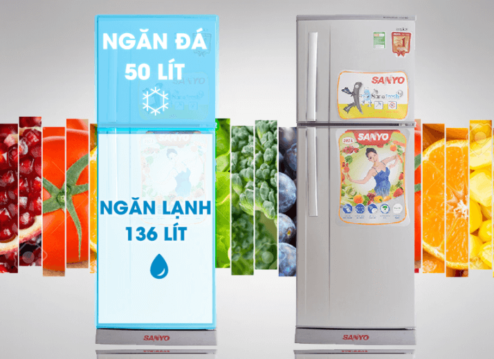 Tủ lạnh Sanyo SR-S205PN, SN 205l